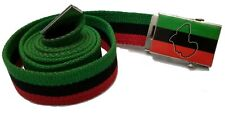 Africa Canvas Belt Flag Mini Banner Buckle  Afro sexy African Belts Adjustable