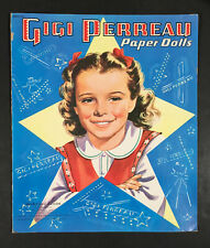 """Gigi Perreau� 1951 Saalfield Cut Paper Dolls Vintage"