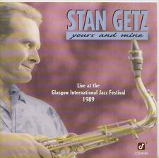 STAN GETZ   CD PROMO   YOU AND MINE   LIVE  GLASGOW INTERNATIONAL JAZZ FESTIVAL