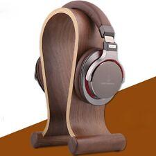 U Shape Walnut Wood Headphone Display Stand Earphone Holder Headset Hanger Rack