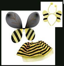 Halloween honey bee,bumblebee Costume Skirt,Wings & Antenna Headband NEW girl 3+