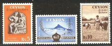 Ceylon #326-28 Mint - 1954 Pictorial High Values ($77)