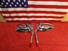 OEM Harley-Davidson Chrome Tear Drop Mirrors Softail Dyna Touring Sportster