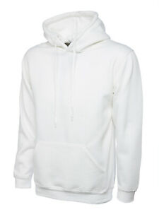 Uneek UC502 Classic Hooded Sweatshirt Casual Pullover Thick Sports Jumper Hoody
