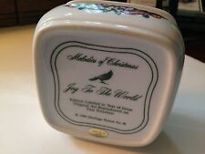 Heritage House Porcelain Music Box Joy to the World - Excellent
