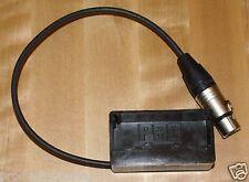 NP1 Battery Shoe Adapter Holder to 4 Pin XLR Female Power Supply XLR4F Hirose