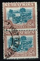 South Africa SG# 49b used Pair (Small Cut on Lower) - Lot 07222015