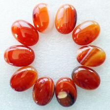 10Pcs Wholesale Red Onyx Agate Oval 25x18x7mm CAB CABOCHON M746