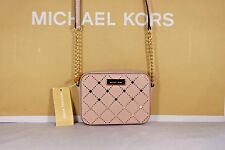 NWT Authentic Michael Kors Ballet Pink Saffiano Leather Jamey Crossbody Bag