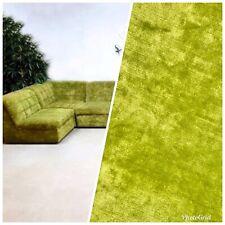 Designer Heavy Weight Velvet Upholstery Fabric - Soft- Dusty Lime Green BTY
