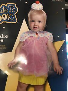 Cupcake Cutie Toddler Costume Dress up 12-18mo Halloween