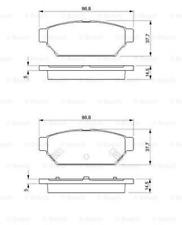 Bremsbelagsatz, Scheibenbremse für Bremsanlage Hinterachse BOSCH 0 986 424 464