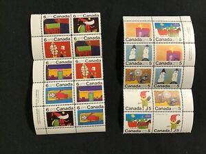 """JPS_Stamps! #519-28a... """"Christmas Theme, Tenant Block of 10 """" (vg/ folds)"""