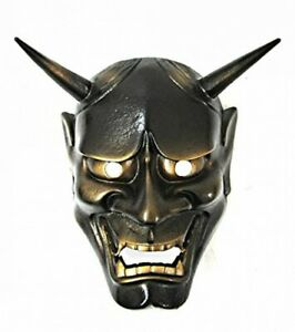 Japanese Hannya Noh Mask Made of Iron H190xW170xD90mm From Japan with Tracking