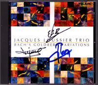 Jacques LOUSSIER Signiert BACH Goldberg Variations Trio CD TELARC André Arpino