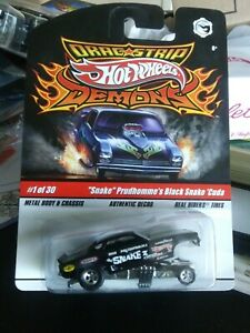 "Hot Wheels Dragstrip Demons #1 ""Snake"" Prudhomme's Black Snake 'Cuda"