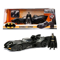 Batman - Batmobile 1989 1:24 with Batman Metals Die-Cast Figure NEW Jada Toys