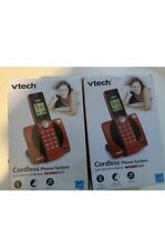 2 VTech CS6919 Cordless Phone System with Caller ID/Call Waiting Red
