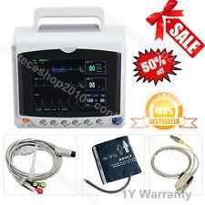 CONTEC ICU Patient Monitor 4 Parameters Vital Signs Portable ECG NIBP SPO2 PR