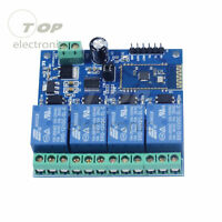 12V 4 Way Bluetooth Relay Module Smart Home Mobile APP Remote Control Switch