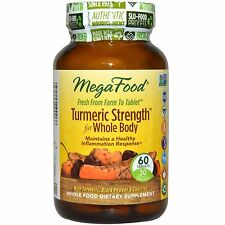 MegaFood Turmeric Strength for Whole Body 60 Tabs - FREE FAST SHIPPING