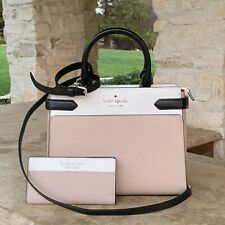 NWT KATE SPADE STACI MD SATCHEL COLORBLOCK BAG LEATHER/WALLET OPTIONS WKRU6952