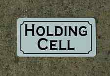 HOLDING CELL Metal Sign 4 Costume Cosplay Girls Clubware S&M Prop TV Movie