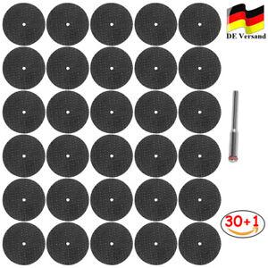 30 X Kleine Mini Harz Trennscheiben Sägeblatt Ø 32mm mit Aufspanndorn Für Dremel