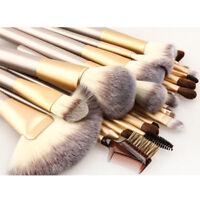 Pro 12 Pcs Makeup Brushes Cosmetic Tool Kit Eyeshadow Powder Brush Eyeliner Set