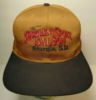 Vintage 1990s The Broken Spoke Saloon Sturgis Motorcycle Rally SNAPBACK HAT CAP