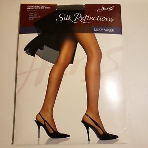 Hanes Silk Reflections Silky Sheer Control Top Reinforced Toe 718 Sz CD