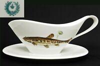 Porzellan Sauciere Fischmotiv Fischservice Speiseservice Fische Wels - TOP