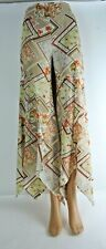 JIKI Monte-Carlo Creations Flowing Floral & Geometric Design Wide Leg Pants