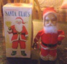Rare Old Vintage Original Alps Wind Up Toy Santa Claus Working W/Lid Only 1940s