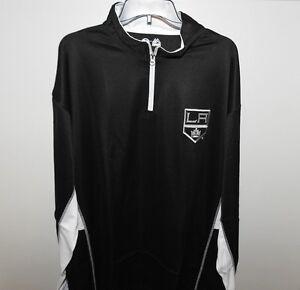 NHL Majestic Los Angeles Kings 1/4 Zip Hockey Jacket New Big & Tall Mens XLT