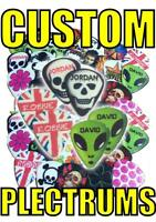 12 x CUSTOM DESIGN personalised electric or acoustic guitar plectrums picks