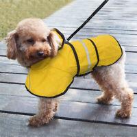 Waterproof Hooded Pet Raincoat Coat Jacket Puppy Large Dog Rainwear Reflective