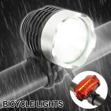 Bike Bycycle Light Set LED Front Rear Head Tail Lampe Light BrightWaterproof