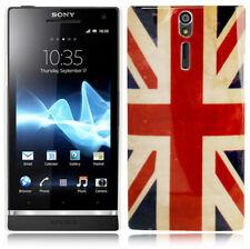Hardcase funda protectora para Sony Xperia S lt26i retro bandera inglesa