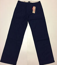 Levis True Utility Pants Straight Fit Jean Mid Rise Flat Front Rich Blue 32x32