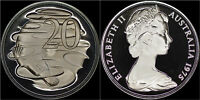 AUSTRALIA 20 CENTS 1975 (GEM PROOF) *ONLY 23,000 MINTED*