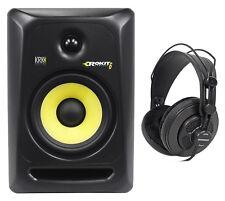 """KRK RP6-G3 Rokit Powered 6"""" Studio Monitor RP6G3 Active Speaker + Headphones"""