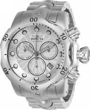 New Mens Invicta 23885 Venom Silver Dial Stainless Steel Swiss 53.7mm Watch