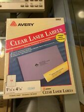 Avery Laser Labels Address 1 13x4 5662 Clear 700 Labels New Sealed