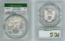 2020 (P) SILVER AMERICAN EAGLE EMERGENCY PCGS MS70 PHILADELPHIA FIRSTSTRIKE 17