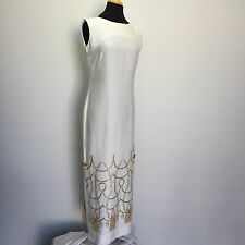 White Sheath Dress Hawaiian Vintage Shantung Hawaiian Casuals by Stan Hicks