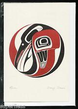 New • DANNY DENNIS • ART CARD Totem RAVEN DRUM design inspired Haida design art