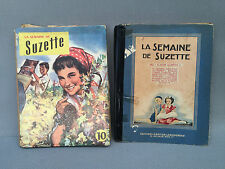 Set de 2 antiguos libros pour enfants la semana de Suzette 1952 old french book