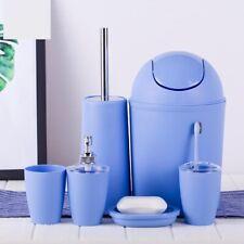 Bathroom Toothbrush Holder Accessories Set Luxury Tumbler Plastic Bath Storage