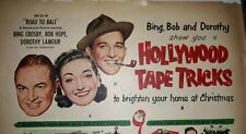 Magazine Print Ad  Scotch Tape Hollywood Bing Bob Hope Lamour Christmas 1952